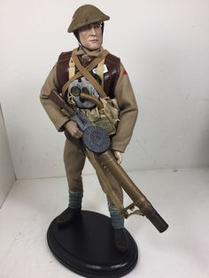 1/6 SIDESHOW BRITISH LEWIS GUNNER 29TH INFANTRY DIV + STAND WW1 DRAGON BBI DID | Toys & Hobbies, Action Figures, Military & Adventure | eBay!