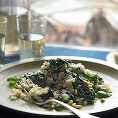 Cavolo nero, pine nut and basil risotto