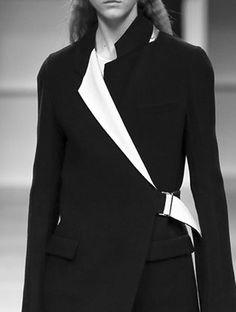 Jacket with contrasting lapels; black & white fashion details // Aquilano Rimondi Fall 2016