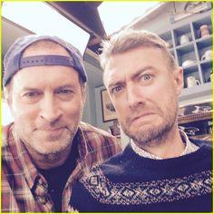 'Gilmore Girls' Reboot Reunites Luke & Jess - New Set Photos! | scott patterson milo ventimiglia reunite gilmore girls set 01 - Photo