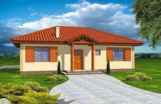 Projekt domu parterowego Jak marzenie o pow. 88,53 m2 z dachem kopertowym, z tarasem, sprawdź! Gazebo, Pergola, Outdoor Structures, Mansions, House Styles, Outdoor Decor, Home Decor, Mansion Houses, Homemade Home Decor