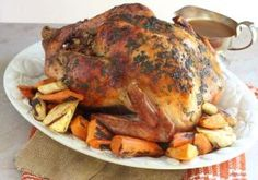 Brown Sugar Rubbed Beer Can Roasted Turkey