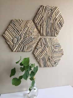 Your place to buy and sell all things handmade Set Large Hexagon wall decor / wood tiles/ Driftwood hexagon Driftwood Wall Art, Driftwood Projects, Wooden Wall Art, Geometric Decor, Handmade Tiles, Wall Design, Wood Tiles, Wall Decor, Diy Crafts