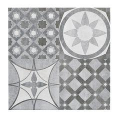 Lofthouse Grey Matt Stone effect Ceramic Wall & floor tile, Pack of Ceramic Floor Tiles, Tile Floor, Cheap Tiles, Matt Stone, Bohemian House, Ceramic Materials, Floor Patterns, Wet Rooms, Grey Stone