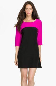 Amanda Uprichard 'Jordan' Colorblock Silk Shift Dress | Nordstrom | Should be a good length on a shortie like me...