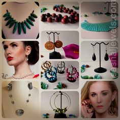 Why not go with bold, colorful fashion accessories? SLJ Funky, fresh, eclectic jewelry for the client who insists on making a statement.