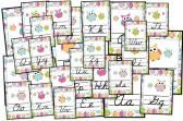 Owl Themed CURSIVE Alphabet Posters product from FlapJack-Ed-Resources on TeachersNotebook.com