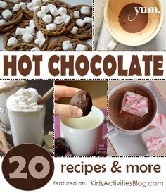 {Yummy} Recipes for Hot Chocolate - it's our family's tradition to make hot chocolate with the kids after playing in the snow!