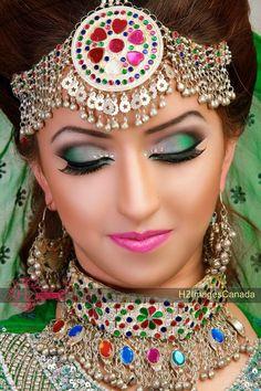 Tradional afghan bride