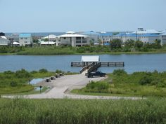 Grand Isle State Park lagoon and canoe launch area