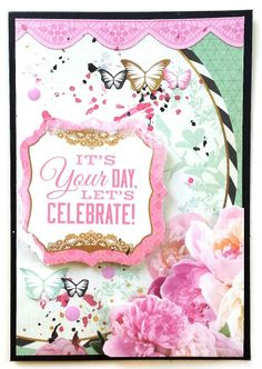 Kaisercraft : All That Glitters collection : birthday card by Amanda Baldwin