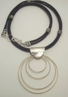 Huge Circle Necklace Sterling Silver Circle by ForEvaDesigns, $140.00