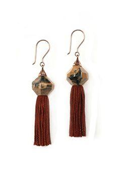 Elke Kramer  Mythical Tassel Earring.