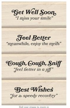 Love Quotes For Him To Get Well Soon : get well soon inkadinkado more calligraphy quotes get well soon quotes ...