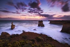 Two Against One. - Port Campbell, Great Ocean Road. A very unique perspective along the GreatOcean Road.  Darren J.