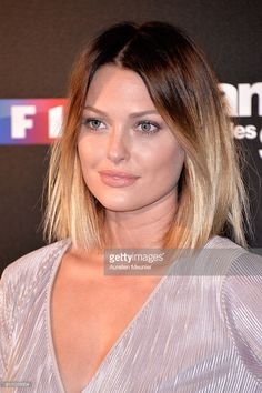 Caroline Receveur poses during the 'Danses With The Stars' photocall on September 28, 2016 in Paris, France.