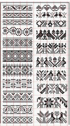Elegant fair isle knitting patterns no floss numbers, but will be fun to mix and match colors. HUNSCMH - Crochet and Knit , Elegant fair isle knitting patterns no floss numbers, but will be . Fair Isle Knitting Patterns, Fair Isle Pattern, Knitting Charts, Loom Patterns, Crochet Patterns, Knitting Ideas, Free Knitting, Knitting Machine, Double Knitting