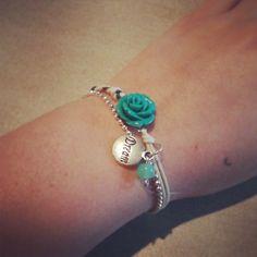 Homemade bracelet <3 roses.