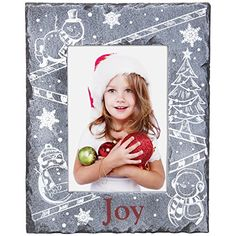 4 x 6 JOY Snowman Christmas Slate Picture Frame -- Read more reviews of the product by visiting the link on the image.