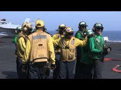 USS George H.W. Bush Aircraft Carrier Flight Deck Drills