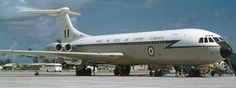 RAF VC10.  Looks like a transit stop at RAF Gan in the Maldives. The ground crew would refuse to take the steps away until the duty post clerk confirmed the mail was aboard.
