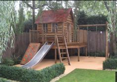I Like The Swing Set Attached To The Cubby/fort. Better Than The Plastic  Swings. Gravel Under The Play Set. Dedicated Area With Path And Low Boxwood  Hedges ...