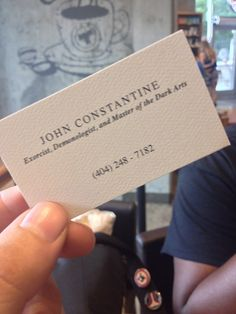 Some bloke gave us his card…