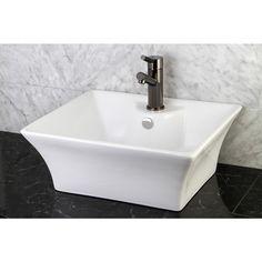 White Vitreous China Vessel Sink - 10367909 - Overstock.com Shopping - Great Deals on Kingston Brass Bathroom Sinks