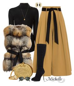 Crazy for Culottes: tan camel black fur vest & boots Work Fashion, Fashion Looks, Fashion Outfits, Womens Fashion, Classy Outfits, Stylish Outfits, Winter Outfits, Elegantes Outfit, Mode Inspiration