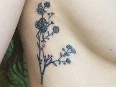 Bohemian sideboob tattoo