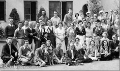 Walt Disney Studio group photo - Left - FindingWalt.com (Elbert Lewis is in the front row two to the right of the dog - with glasses)