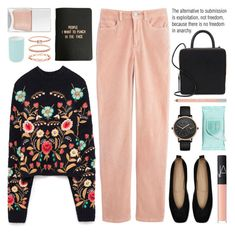 """embroidered sweater"" by jesuisunlapin ❤ liked on Polyvore featuring Belgique, Skagen, Building Block, Estée Lauder, A Weathered Penny, Nails Inc., Accessorize, NARS Cosmetics, Urban Decay and Aquanova"