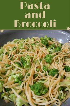 Sauteing the broccoli before adding it to the pasta develops a bright green color in this recipe.