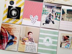 How to: Coordinate mismatched photos on your scrapbook layout or Project Life page. | Gossamer Blue