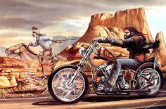 David Mann Motorcycle Art | http://www.spaceg.com/multimedia/collection/motorcycles/David Mann art