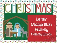 Christmas Letter Recognition Activity: Nativity Words