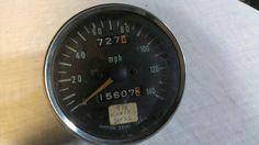 Get It !!! Rare! Blue, Original Kawasaki 1972 H1B Motorcycle Speedometer