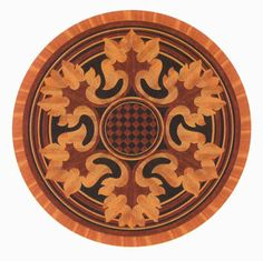 Click to see a larger image for R80 custom floor medallion, inlay, border or parquet.