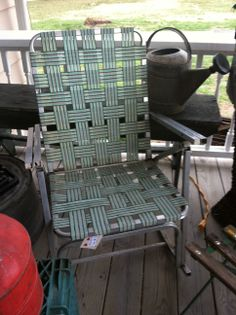 Vintage lawn chair rocker.  The chair has sold.