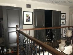 Honey We're Home: Painted Dark Grey Doors