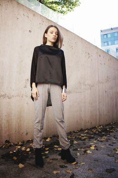 by Magda Hasiak: MMXIVSET #magdahasiak #MMXIVSET #fashion #womanfashion #fashiontop #winterfashion #blacktop #greytrousers #fashiontrousers #casuallook #autumnfashion #streetlook #elegantwoman #fashionlook #designerslook