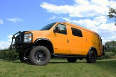 Great looking Ford 4x4 van with Aluminess Bumper and ladder