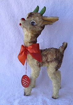 VINTAGE RUDOLPH THE RED NOSED REINDEER TOY