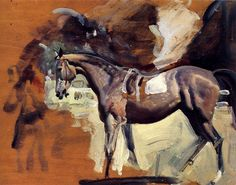A Study of Mahmoud, The 1936 Derby Winner by Sir Alfred James Munnings