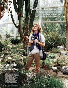 """""""I love vests and scarves, especially in this combination—it looks lived in and cool."""" –Keri Russell 
