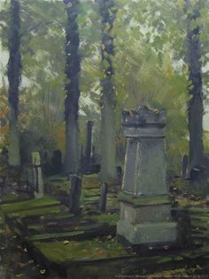"Daily Paintworks - ""Cemetery Loolaan. Doetinchem, The Netherlands"" - Original Fine Art for Sale - © René PleinAir"