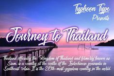 Journey to Thailand font branding calligraphy decorative letter lettering logo logotype magazine packaging wedding brush handwriting retro typerface tattoo vintage font painting elegant calligraphic Tattoo Fonts Handwritten Fonts, All Fonts, Business Brochure, Business Card Logo, Vintage Fonts, Free Fonts Download, Name Tags, Tattoo Fonts, Letters