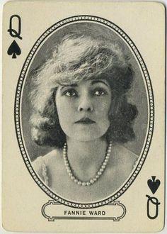 Q♠ Pc153 - Queen of Spades Fannie Ward