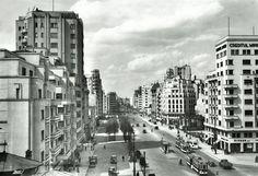 in stanga - bloc carlton - prabusit la cutremurul din 1940