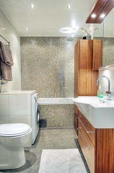 Fräscht och nyrenoverat badrum